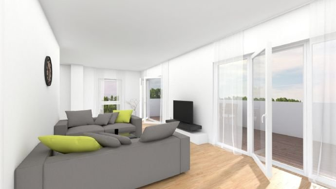 Wohnzimmer mit Dachterrasse 1