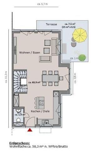 Haus 1 - Grundriss Erdgeschoss