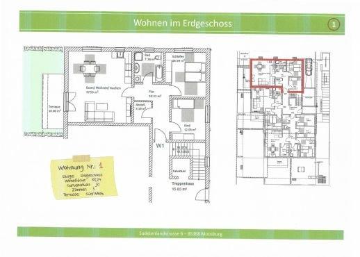 Wohnung 1, 88,24m² mit Gartenanteil reserviert