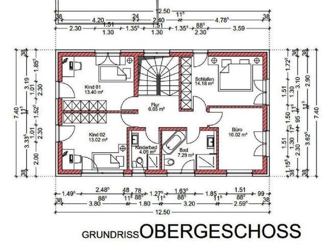 Grundriss Obergeschoss - Haus 2