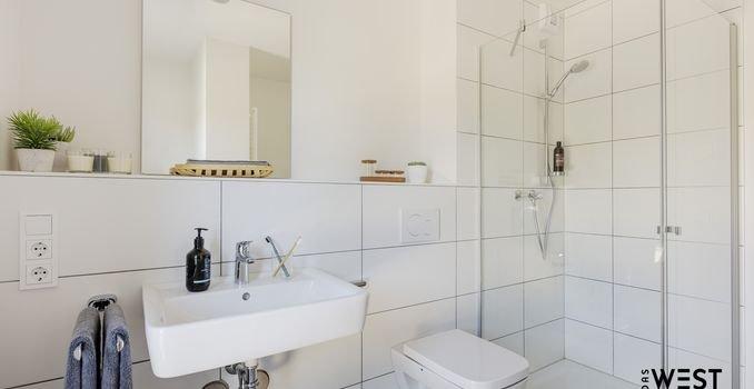Bodentiefe Dusche (Musterwohnung)