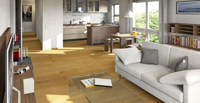 Wohnzimmer und offene Küche - Beispiel