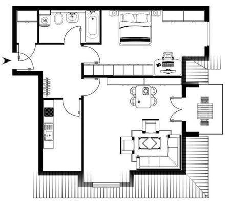Grundriss Wohnung 19 - DG