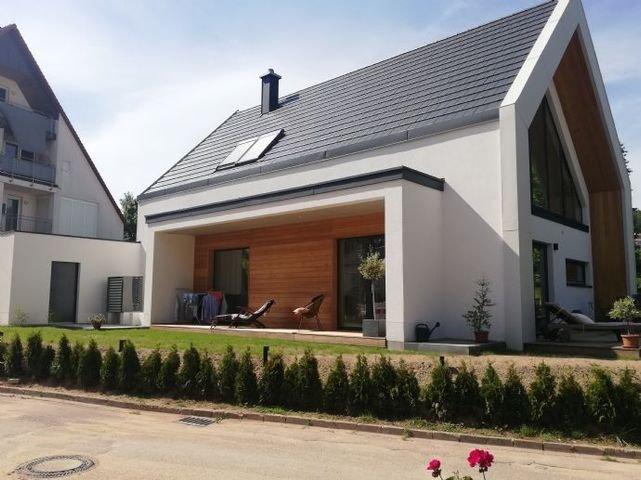 Südansicht eines erstellten Hauses