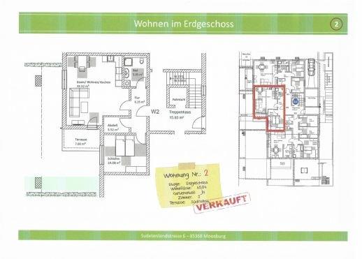 Wohnung 2, 65,84 m², verkauft