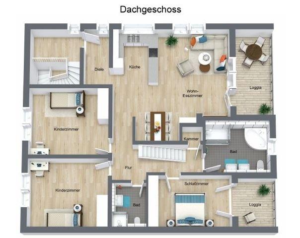 Floorplan letterhead - Am Dreispitz 5 - Dachgescho