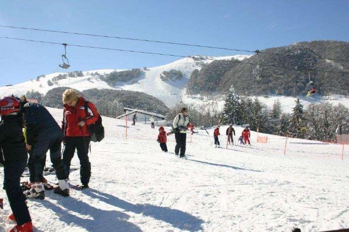 Ski fahren in der Nähe