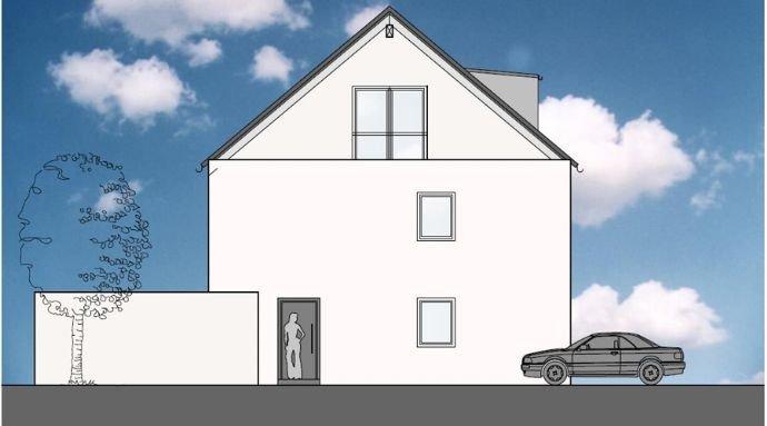 Nordansicht Doppelhaus