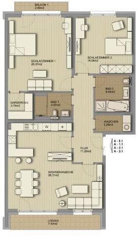 Grundriss_3-Zi.-Wohnung_Balkon+Loggia