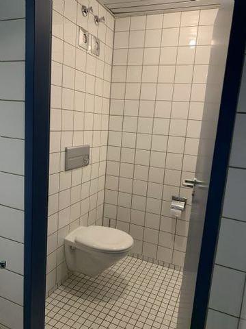Damen- und Herren WC sind getrennt in UG + OG