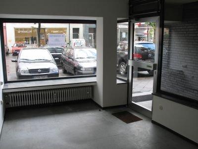 Blick aus dem Ladenlokal