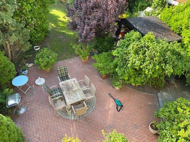 Balkonblick auf die Terrasse