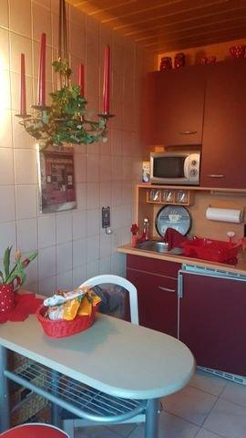 Küche in der Gästewohnung