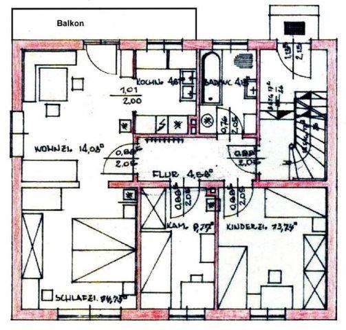 Grundriss-Struktur: Wohnung EG