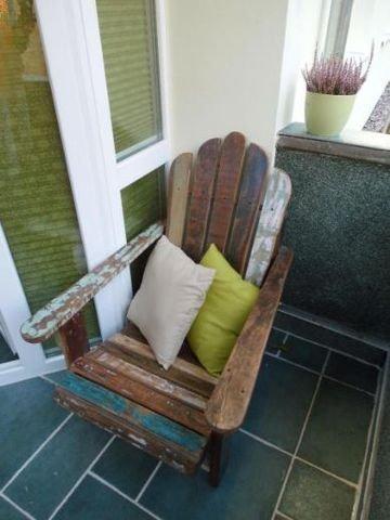 Balkon und Deckchair