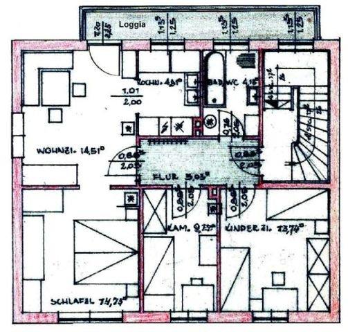 Grundriss-Struktur: Wohnung OG
