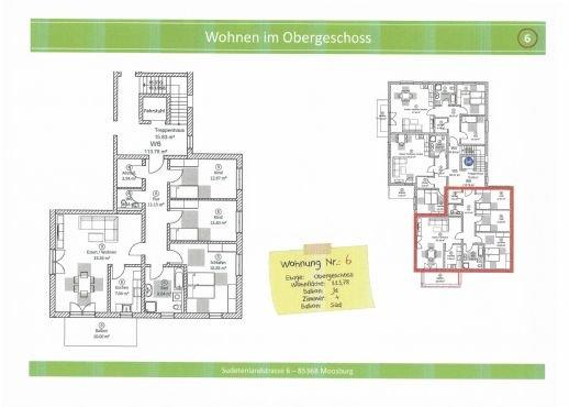 Wohnung 6, 113,78 m² mit Balkon