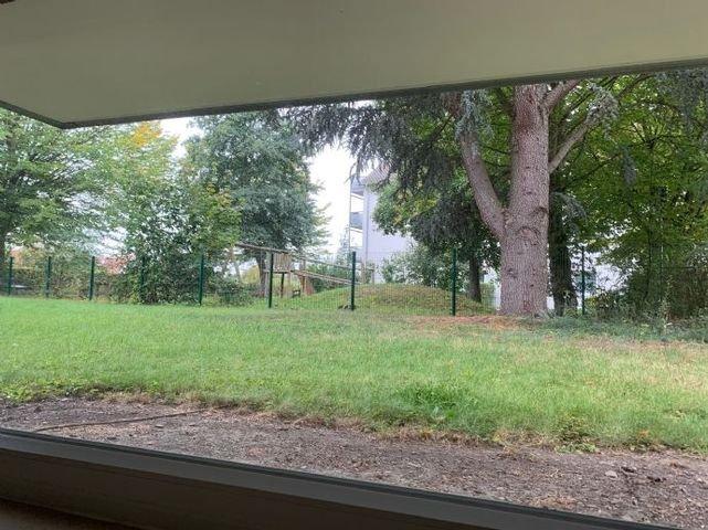 Blick vom Zimmer in den Garten