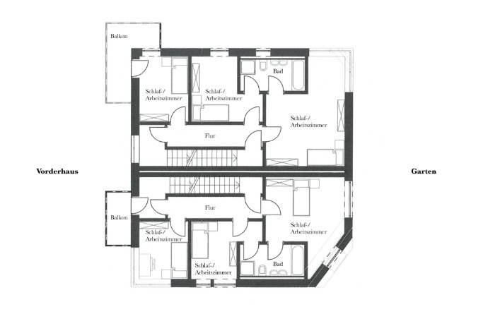 Planung Grundriss 1. Obergeschoss