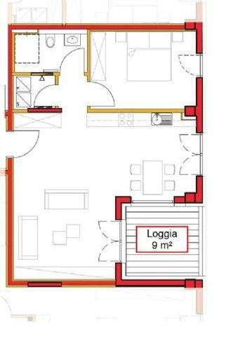Grundriss der Wohnung