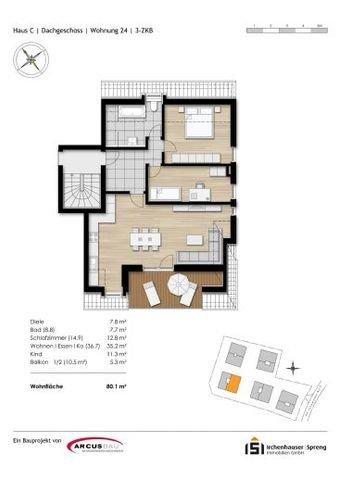 Grundriss Wohnung 24