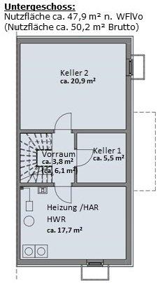 Haus 1 - Grundriss Untergeschoss