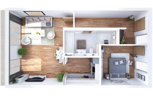 Wohnungsgrundriss (Beispiel)