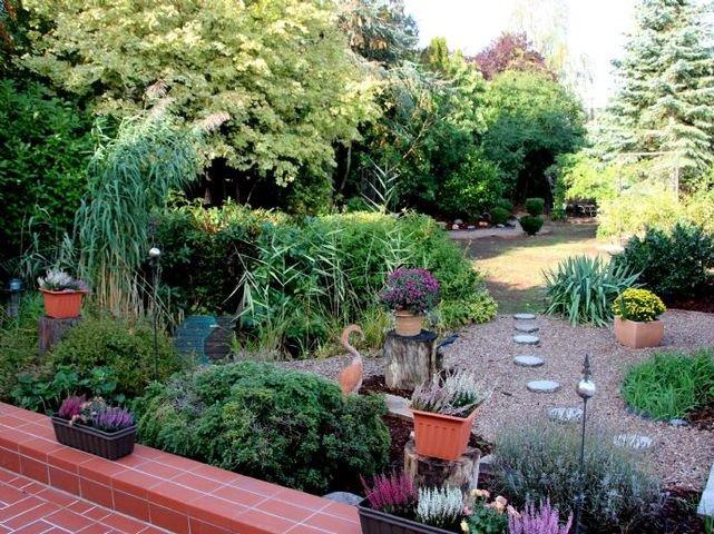 Gartenanlage  - Sicht von Terasse
