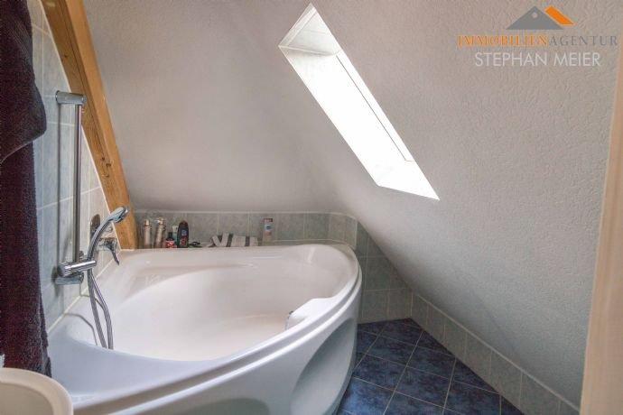 Badewanne im Dachgeschoss