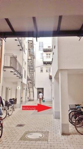 Zugang in den Innenhof nur für Anwohner