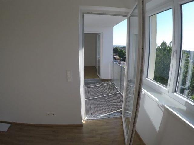 Blick auf die Terrasse vom Wohnzimmer aus