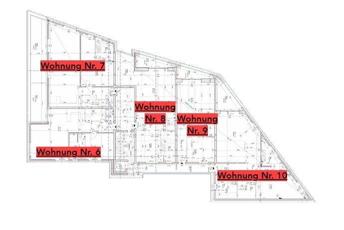 Lage der Wohnungen im Staffelgeschoss