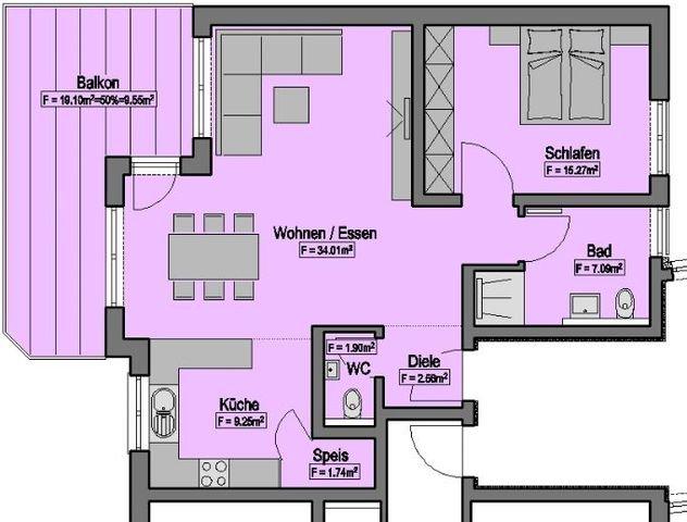 Wohnung-Nr. 5 = 81,37m²