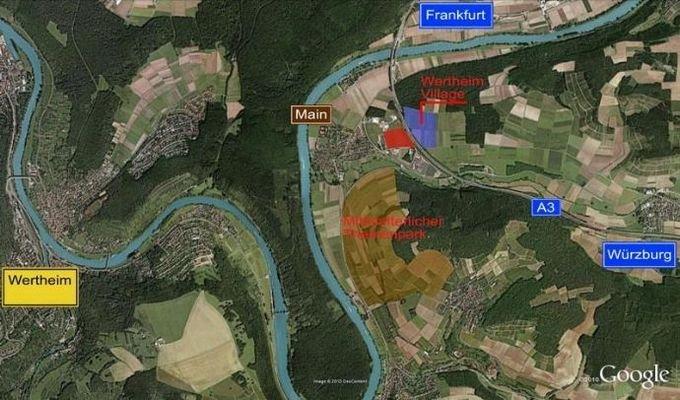 Kartenausschnitt Main- Taubergebiet