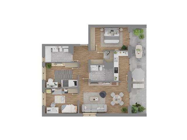Wohnungsgrundriss 5.2.1
