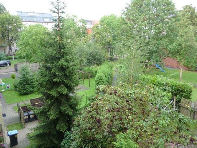 Viel Grün im Innenhof