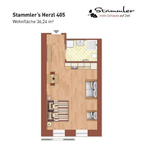 Stammler´s Herzl - Apartment 405 - Grundriss