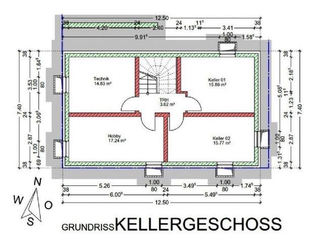 Grundriss Kellergeschoss - Haus 2
