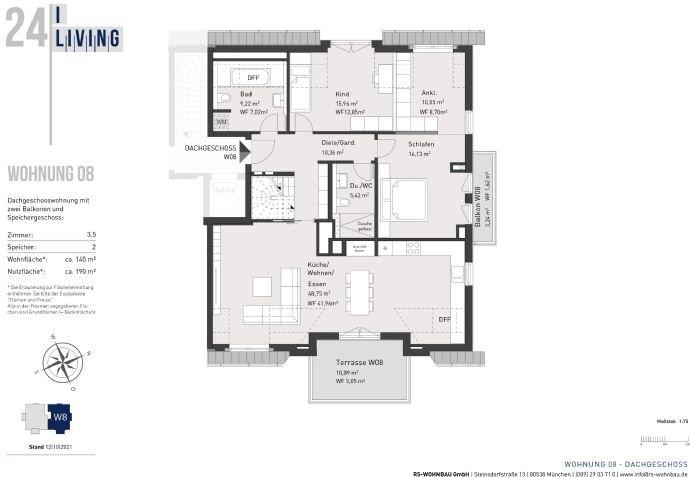 Grundriss Dachgeschoss W08