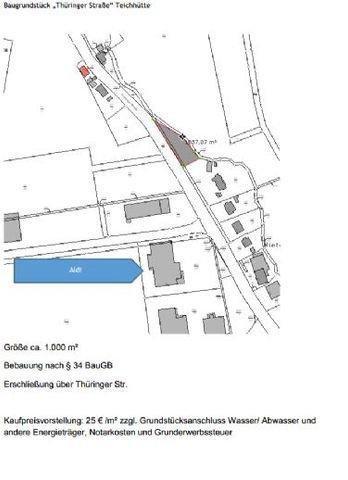 Lageplan Thüringer Straße