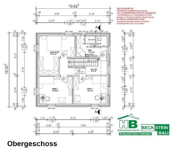Haus 2 Grundriss Obergeschoss
