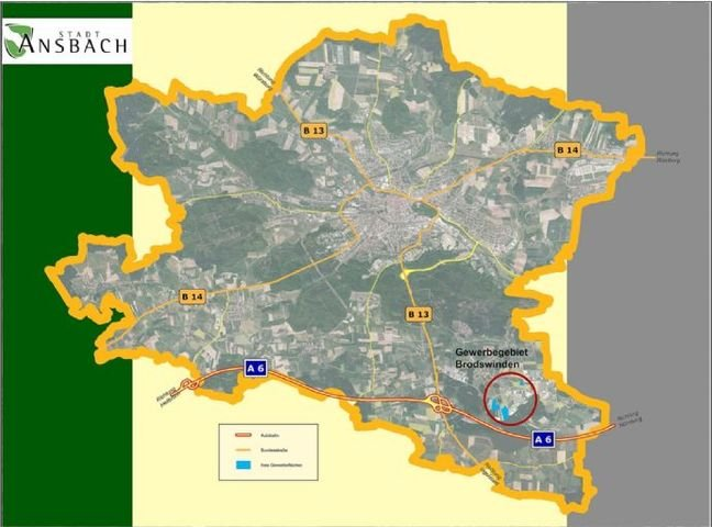 Bild 2: Lage des Gewerbe- und Industriegebiets