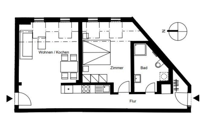 Grundriss Wohnung 53