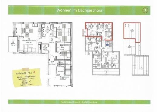 Wohnung 7, 91,15 m² mit Balkon