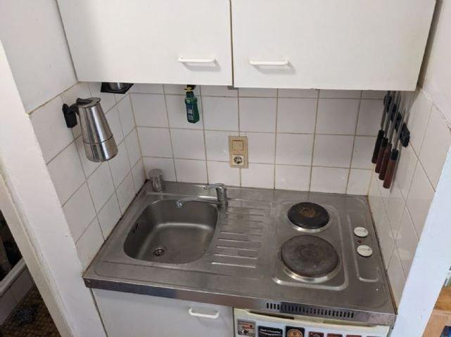 Kochnische mit Kühlschrank