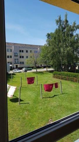 Blick zum Wäschetrockenplatz aus Wohnzimmer