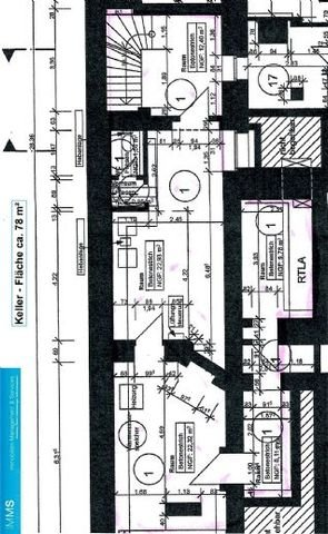 Obj.-Nr. 02210301 - Grundriss Kellerfläche