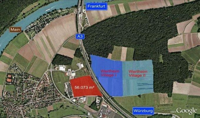 Kartenausschnitt Wertheim Village
