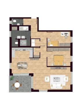 Luisen Suiten Grundriss W03,W06