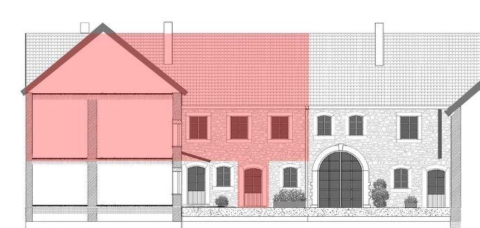 Ansicht SW Plan Wohnung 155 m2